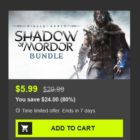 Middle-earth: Shadow of Mordor Bundle on Bundle Stars